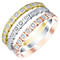 Sterling Silver, 9ct Gold & Rose Gold Diamond Eternity Rings - Product number 5302978