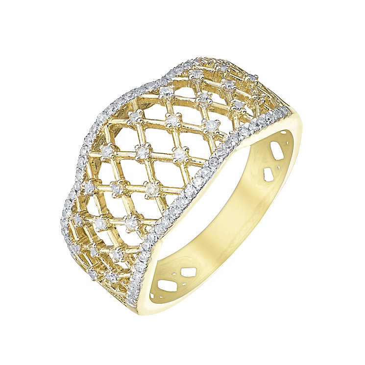 9ct Gold 1/4 Carat Diamond Set Eternity Ring - Product number 5303397