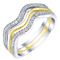 Sterling Silver & 9ct Gold 0.16 Carat Diamond Eternity Rings - Product number 5303524