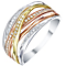 9ct White, Yellow & Rose Gold 0.11ct Diamond Eternity Ring - Product number 5303788