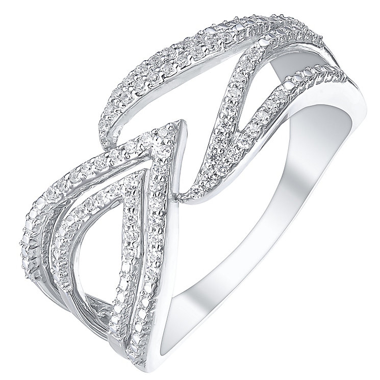 9ct White Gold & 0.15ct Diamond Arrow Eternity Ring - Product number 5304040