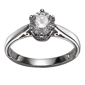 18ct White Gold 3/4 Carat Diamond Solitaire Ring - Product number 5304407