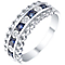Sterling Silver Sapphire & Diamond Eternity Ring - Product number 5305780