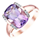 9ct Rose Gold Amethyst & 0.04ct Diamond Ring - Product number 5306507