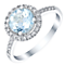 Sterling Silver Blue Topaz & 0.12 Carat Diamond Ring - Product number 5308720