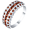 Sterling Silver Garnet & Diamond Eternity Ring - Product number 5309271