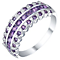 Sterling Silver Amethyst & 0.08ct Diamond Eternity Ring - Product number 5310857