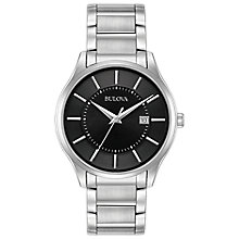 Bulova Men's Black Dial Stainless Steel Bracelet Watch - Product number 5316588