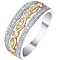 9ct Gold & White Gold 1/4 Carat Diamond Eternity Ring - Product number 5319684