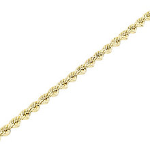 """9ct Gold 26"""" 70 Gauge Hollow Rope Chain - Product number 5320224"""