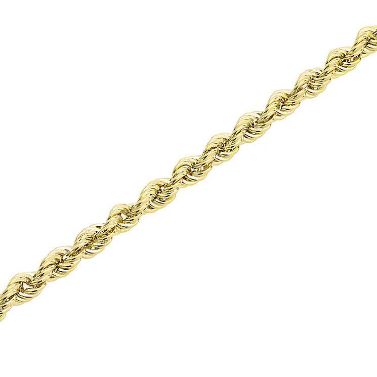 "9ct Gold 28"" 120 Gauge Hollow Rope Chain - Product number 5320305"