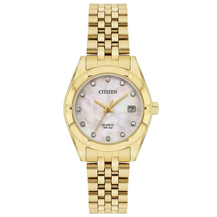 Citizen Ladies' Gold Plated Bracelet Watch - Product number 5320364