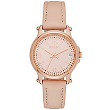 Relic Matilda Ladies' Rose Tone Blush Leather Strap Watch - Product number 5320968