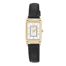 Anne Klein Ladies' Black Leather Strap Watch - Product number 5321689