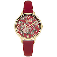 Cath Kidston Ladies' Red Leather Strap Watch - Product number 5321816