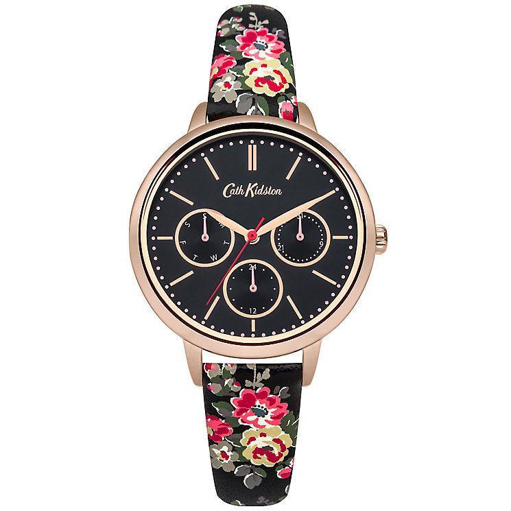 Cath Kidston Ladies' Black PU Strap Watch - Product number 5321867