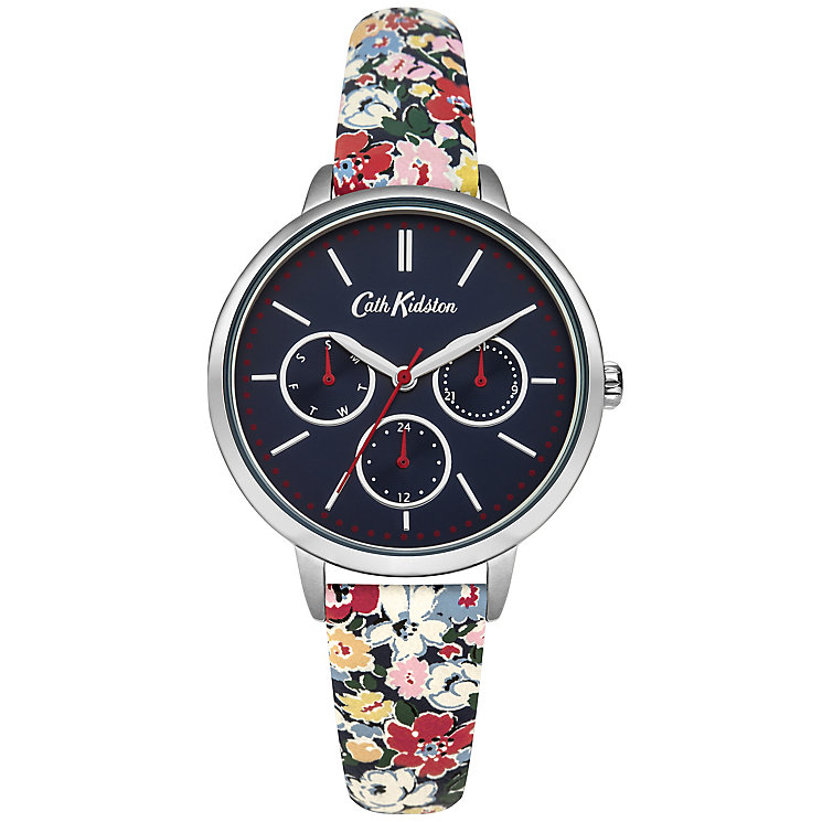 Cath Kidston Ladies' Navy Fabric PU Watch - Product number 5321875