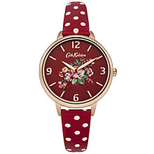 Cath Kidston Ladies' Red PU Strap Watch - Product number 5321891