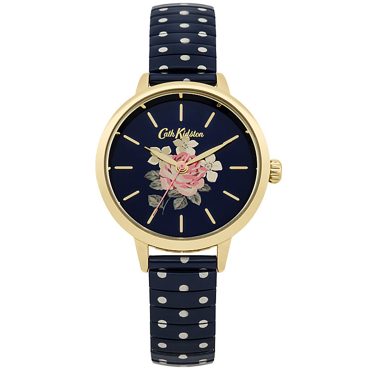 Cath Kidston Ladies' Navy Expanding Stainless Steel Watch - Product number 5321948