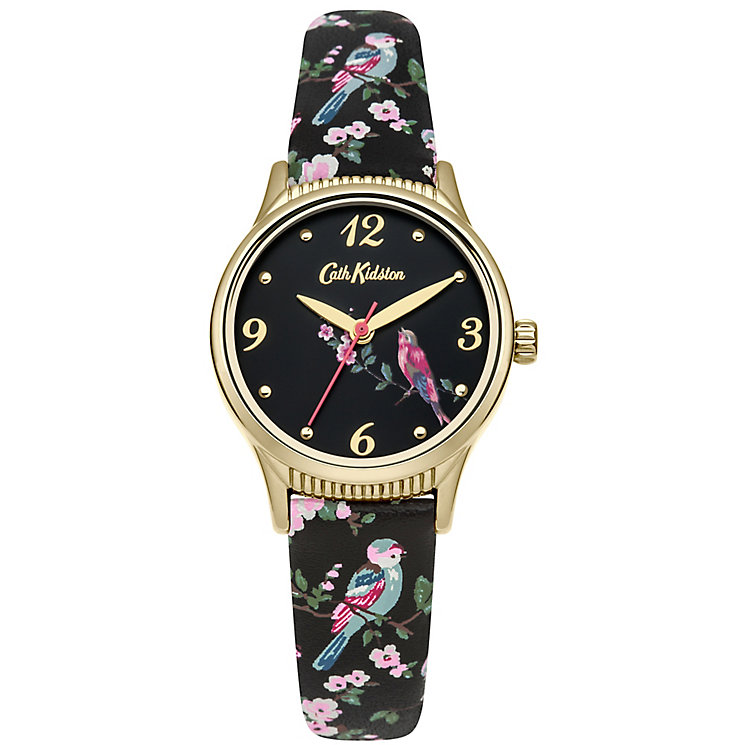 Cath Kidston Ladies' Black Print Strap Watch - Product number 5322006