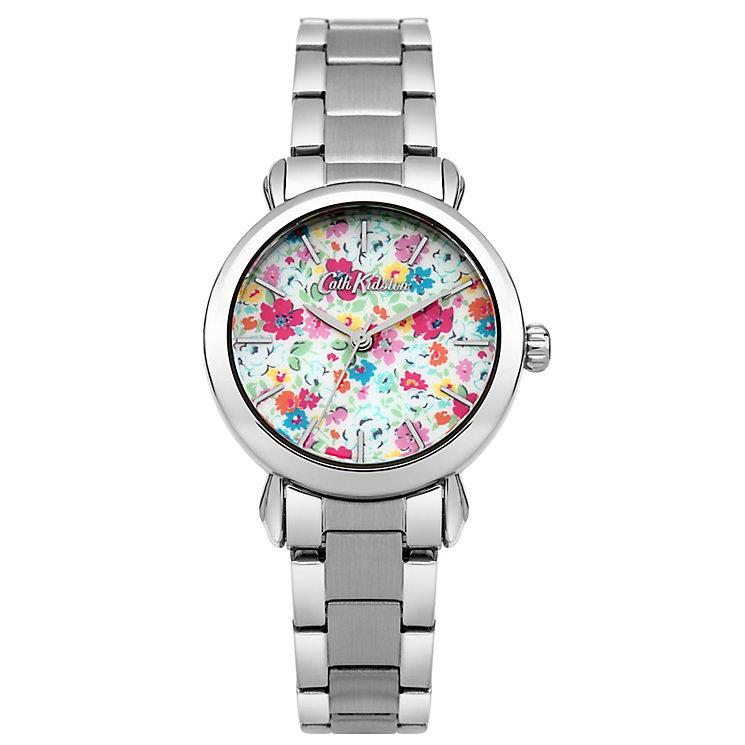 Cath Kidston Ladies' Floral Silver Bracelet Watch - Product number 5322049