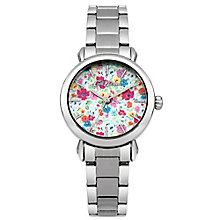 Cath Kidston Ladies' Floral Silver Bracelet Watch - Product number 5322049