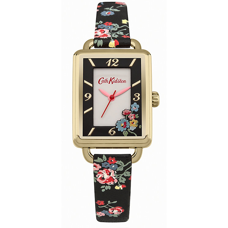 Cath Kidston Ladies' Black PU Strap Watch - Product number 5322057