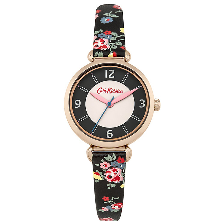 Cath Kidston Ladies' Black PU Strap Watch - Product number 5322073
