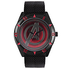 Disney Avengers Black Leather Strap Watch - Product number 5323118