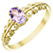 9ct Gold Amethyst Fancy Shoulder Ring - Product number 5325153