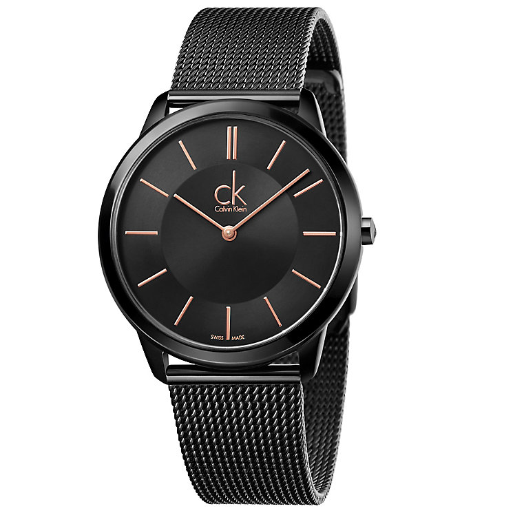 Calvin Klein Minimal Men's Black Mesh Bracelet Watch - Product number 5331579