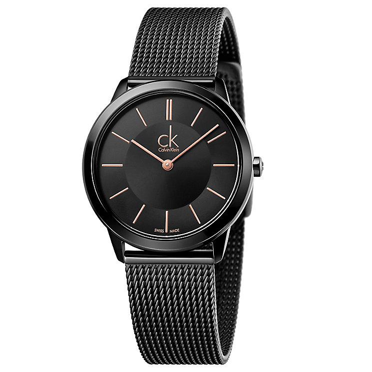 Calvin Klein Minimal Ladies' Black Mesh Bracelet Watch - Product number 5331609