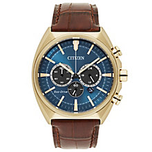 Citizen Gent's Brown Leather Strap Watch - Product number 5331617