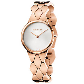 Calvin Klein Snake Ladies' Rose Gold-Plated Bracelet Watch - Product number 5331714