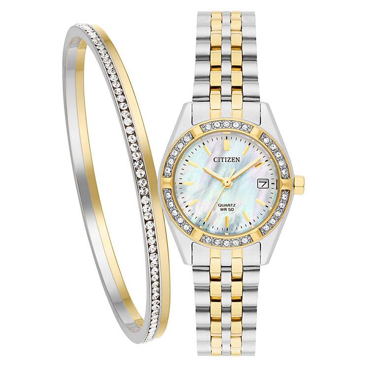 Citizen Ladies' Two Tone Bracelet Watch Set - Product number 5331803