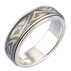 Men's Titanium Two-tone Spinner Ring - Product number 5342120