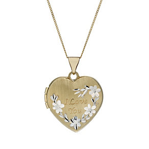 9ct Yellow Gold I Love You Pendant Necklace - Product number 5346738