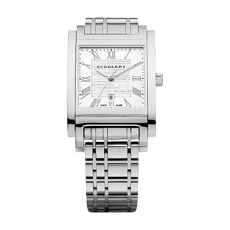 Burberry mens stainless steel bracelet watch