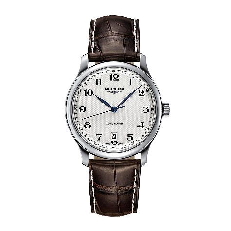 Longines Master Collection mens leather strap watch