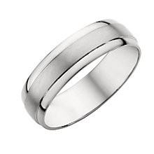 Platinum Men's Matt/Polished Wedding Ring - Product number 5353130