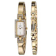 Citizen Ladies' Gold-Plated Watch & Bracelet Set - Product number 5369630