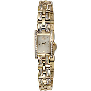 Citizen Ladies' Eco-Drive Gold-Plated Stone-set Watch - Product number 5369673