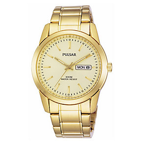 Pulsar Men's Gold-Plated Bracelet Watch - Product number 5370108