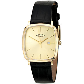 Rotary Men's Tonneau Leather Strap Watch - Product number 5372097