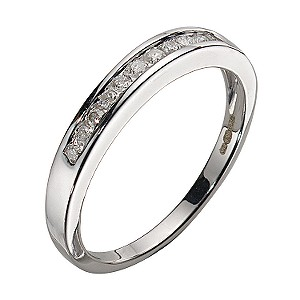 9ct White Gold Diamond 11-stone Channel Set Eternity Ring