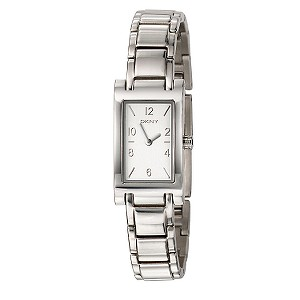 DKNY Ladies' Rectangular Silver Dial Bracelet Watch - Product number 5374626