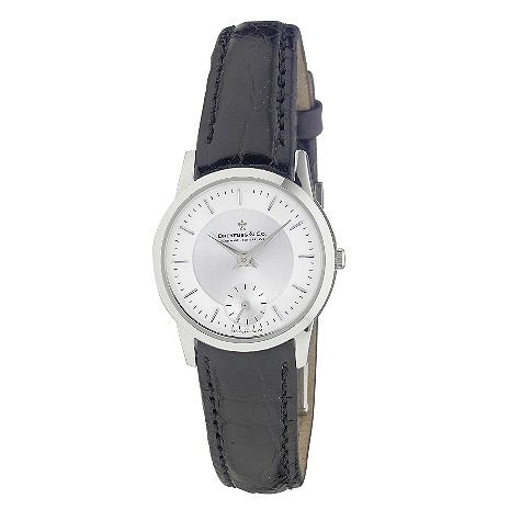 Dreyfuss & Co ladies' black leather strap watch - DLS00001/02