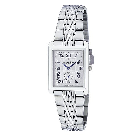 Dreyfuss & Co men's stainless steel bracelet watch