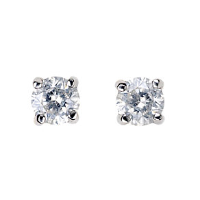 9ct White Gold 0.15 Carat Diamond Stud Earrings - Product number 5381037