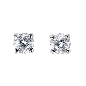 9ct White Gold 1/4 Carat Diamond Stud Earrings - Product number 5381045